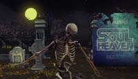 万圣节骷髅舞蹈视频素材