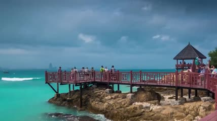 延时摄影 视频素材 实拍视频 三亚 海岛
