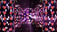 震撼动感节奏魔球旋转LED舞台视频