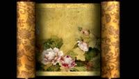 中国画牡丹卷轴视频