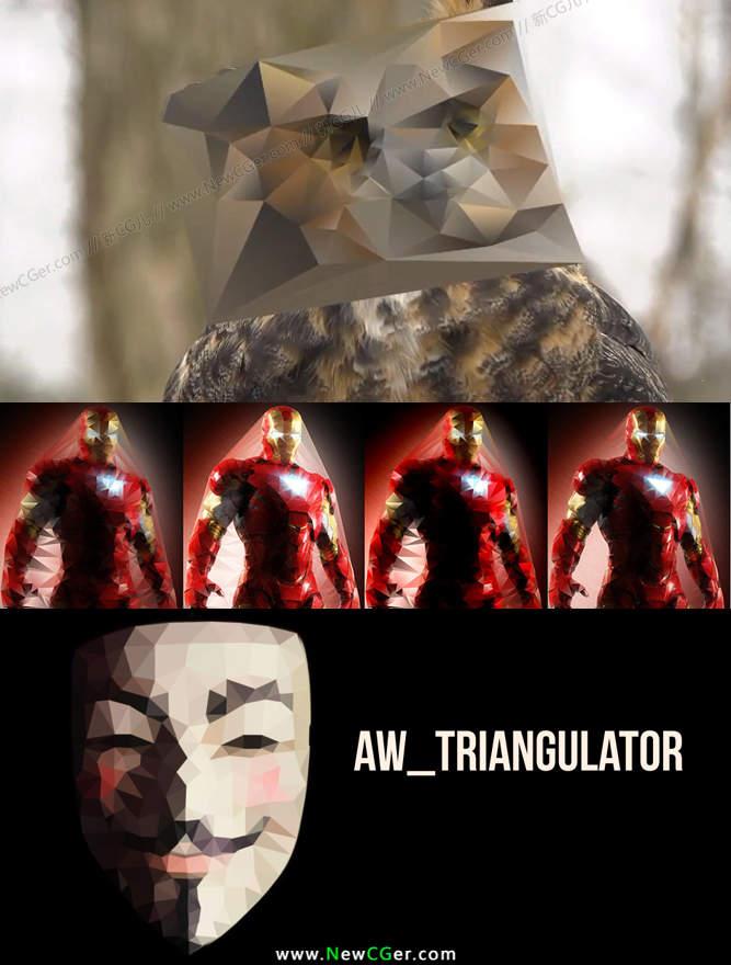 能将任意图像转化为三角面的神奇AE脚本 AW\-Triangulator v1\.3