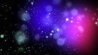 2K红蓝粒子朦胧光斑动态背景素材