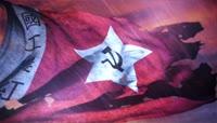高清震撼工农红军旗帜视频素材