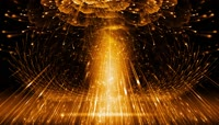 3D全息金色粒子光线开场