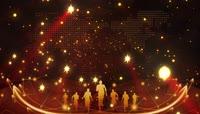 华丽金色星光粒子晚会演绎开场
