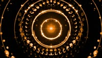 酷炫金色粒子光斑LED舞台视频