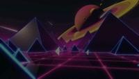 太空科技几何元素背景视频