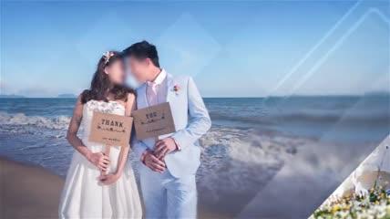 浪漫玻璃婚礼相册AE模板