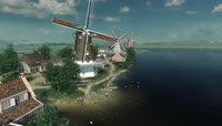 2K荷兰风车3D场景UHD