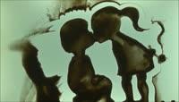 高清情人节主题沙画背景视频
