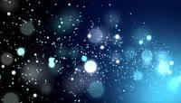 流动的星空冷色粒子背景