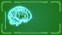大脑科技元素绿色抠屏