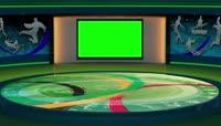 电视台演播室背景绿屏抠像