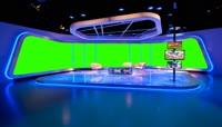 电视台演播室演播厅背景绿屏抠像