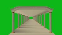 建筑走廊绿屏抠像