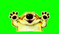 赖皮狗卡通动画绿屏抠像