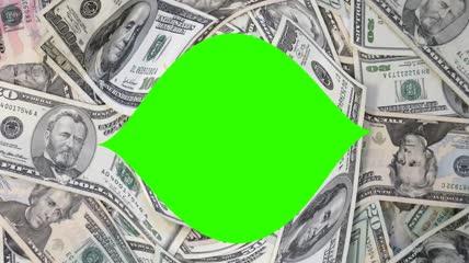 美元美金动画绿屏抠像
