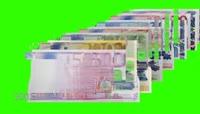 欧元钱币特效绿屏抠像