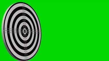 射箭箭靶绿屏抠像1