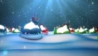 圣诞节彩球动态背景