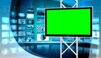 演播室背景绿屏抠像