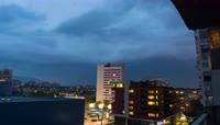 4K城市上空雷暴乌云密布恶劣天气变化5
