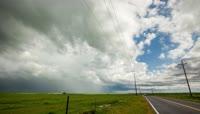 4K雷暴乌云密布恶劣天气变化