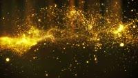 金星背景金色粒子群
