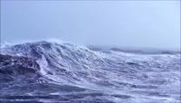 军舰航行大海浪乌云密布恶劣天气变化6