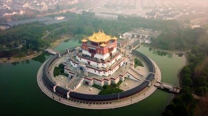 4K灵山自然风景建筑旅游