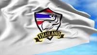 4K泰国足球旗帜标志