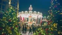 圣诞节夜晚的莫斯科