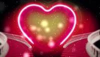 红心舞台背景婚庆素材绿屏抠像