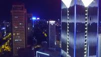 动感航拍城市夜景江西赣州