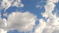 蔚蓝天空白云动态视频素材