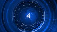 蓝色新闻风格的5秒倒计时含音频视频素材