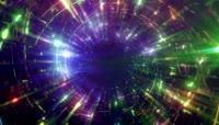 多彩循环视觉冲击隧道穿梭视频素材
