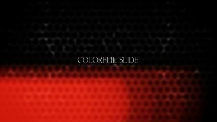 彩色背景图文展示AE模板