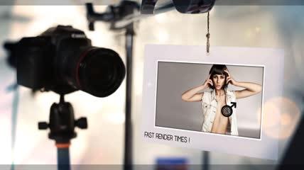 时尚摄影棚图集展示AE模板