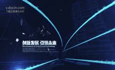 蓝色光效科技感震撼企业宣传片年会开场ae模板