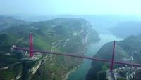 高清实拍贵州鸭池河大桥视频素材