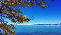 高清航拍美丽湖泊