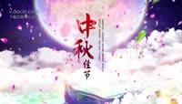 唯美中国风水墨中秋节日宣传开场视频AE模板