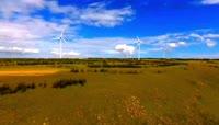 高清实拍风车风力发电