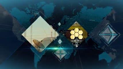 数字科技金字塔立方体主题宣传片AE模板