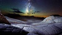 星空晚霞月亮唯美意境移轴延时摄影