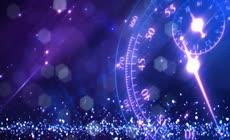 绚丽高清紫色商务企业科技时间背景视频素材
