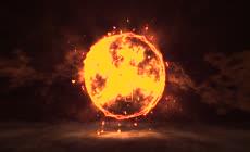 震撼大气火花粒子冲击波年会5秒倒计时视频