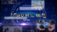 蓝色金字科技图文展示企业宣传AE模板