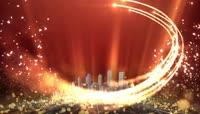 政党大气logo文字金色AE模版